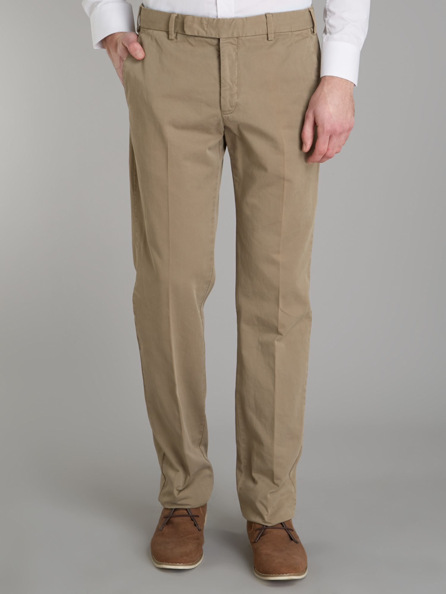 Four pocket slim fit chinos