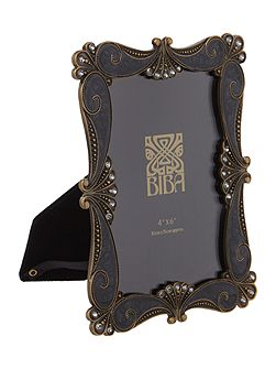 Black baroque photo frame 4 x 6