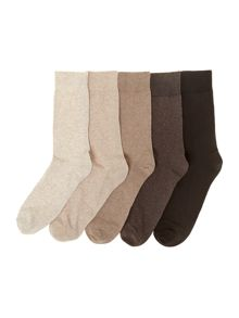 5 pack marl sock