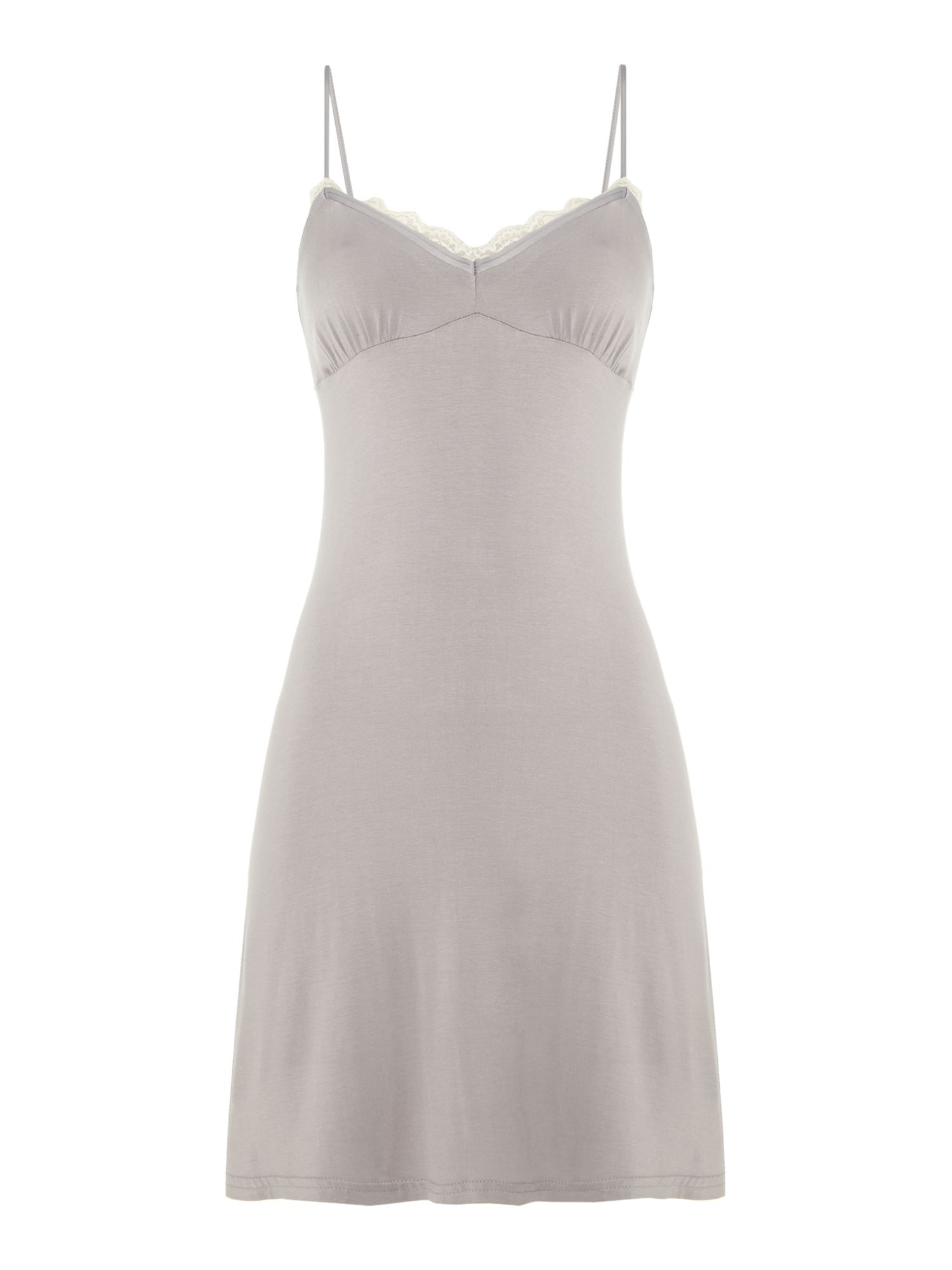 Jersey lace pleated chemise