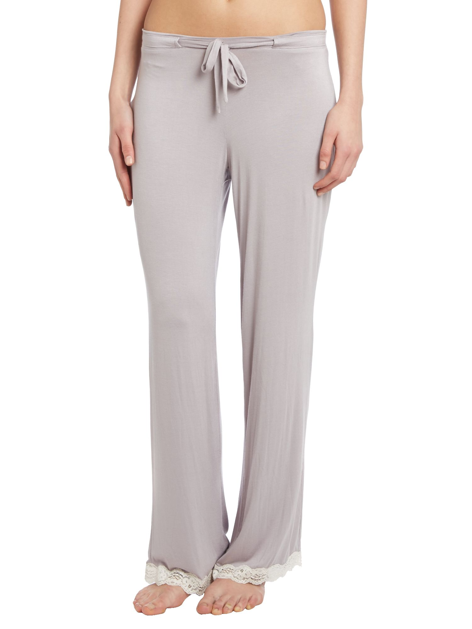 Jersey lace trim trouser