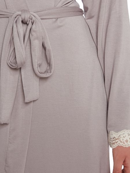 Linea Jersey lace trim robe