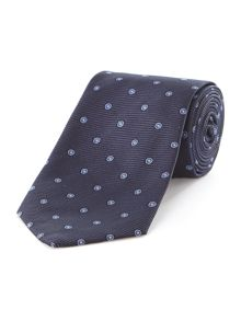 Lemme thick twill and circle silk tie
