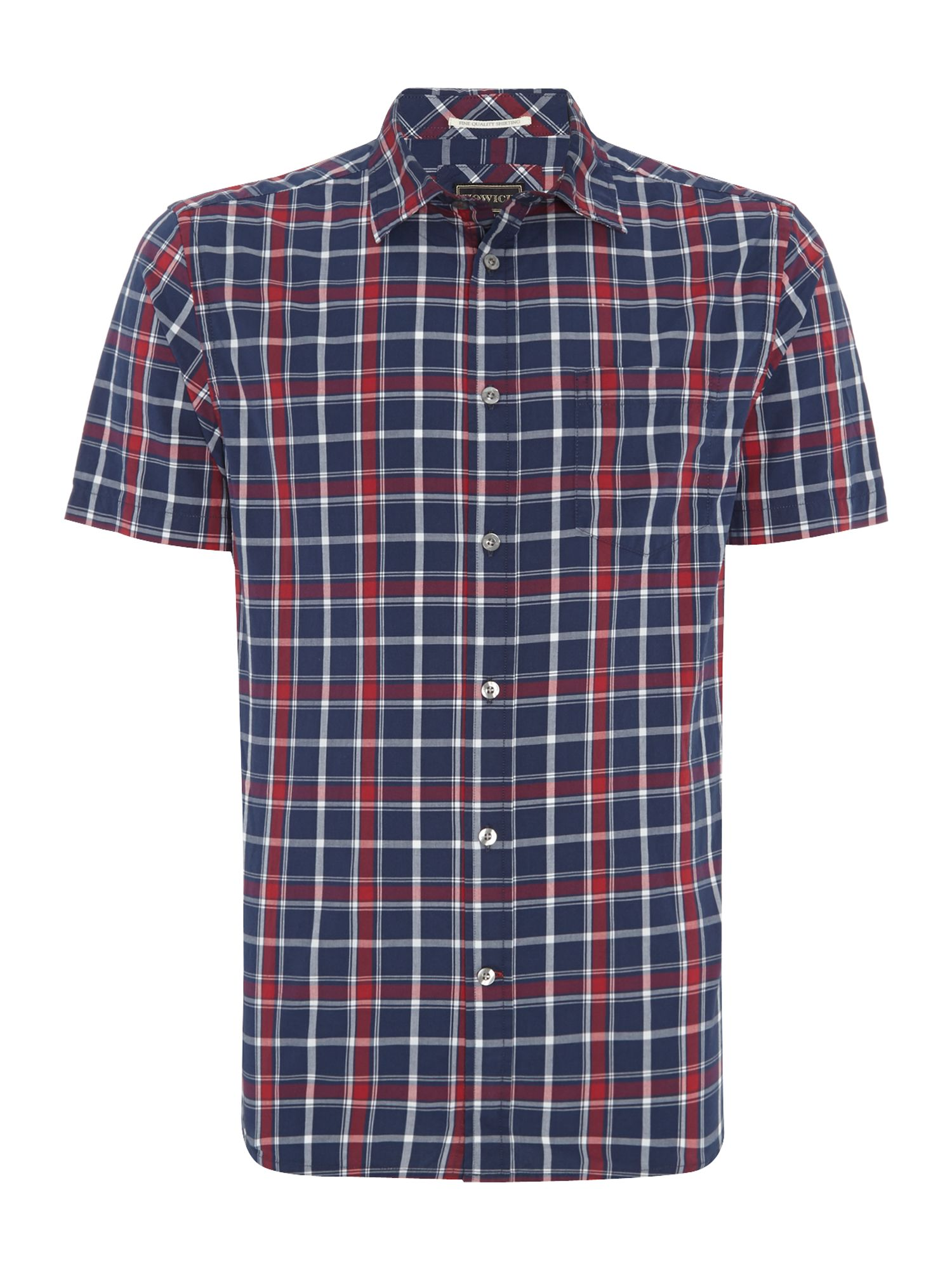 boston check short sleeve shirt