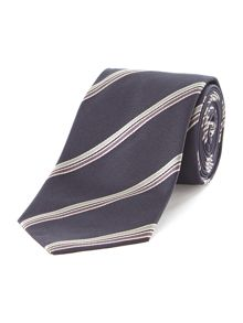 Orba textured and twin stripe tie