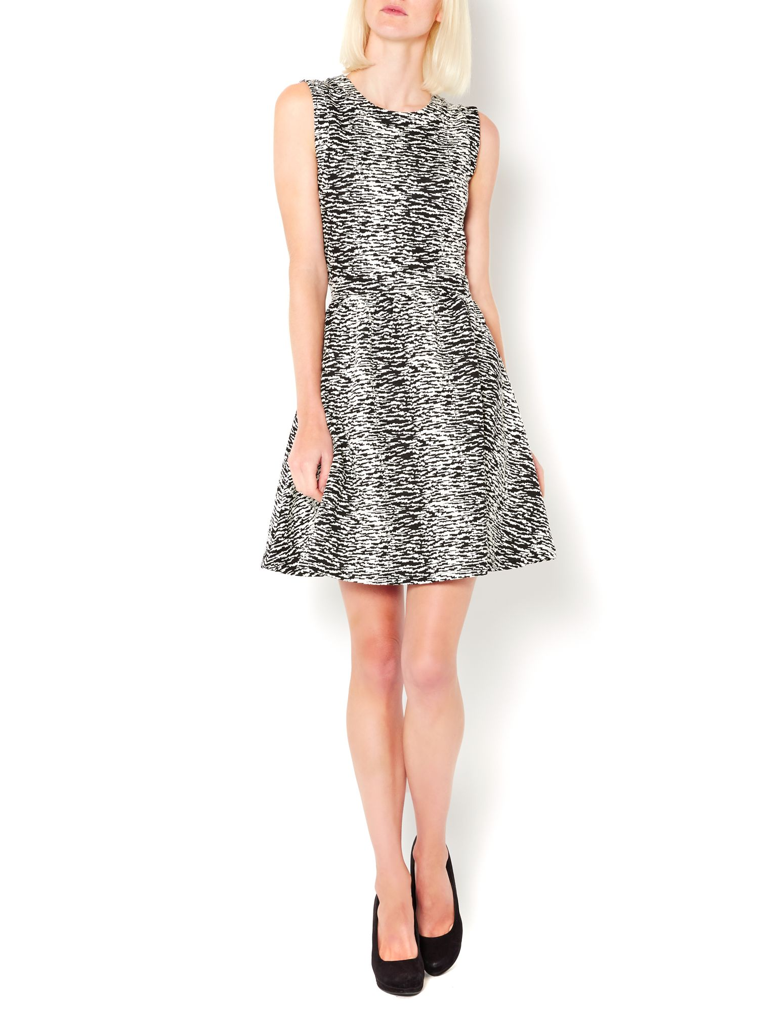 Ikat jacquard skater dress