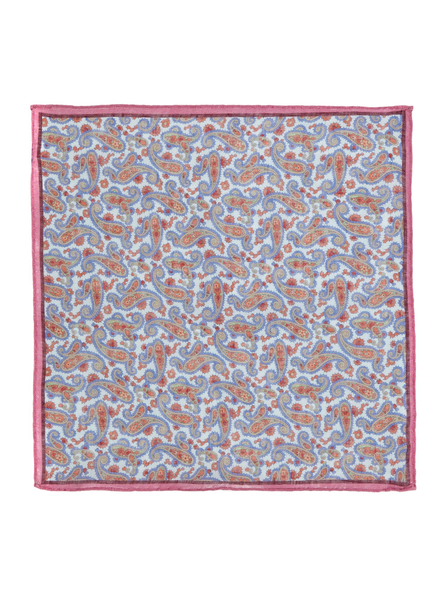 Adda paisley print pocket square