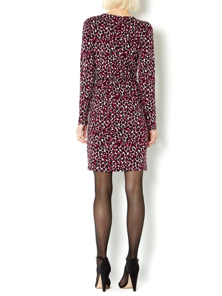 Therapy Leopard print jersey wrap dress