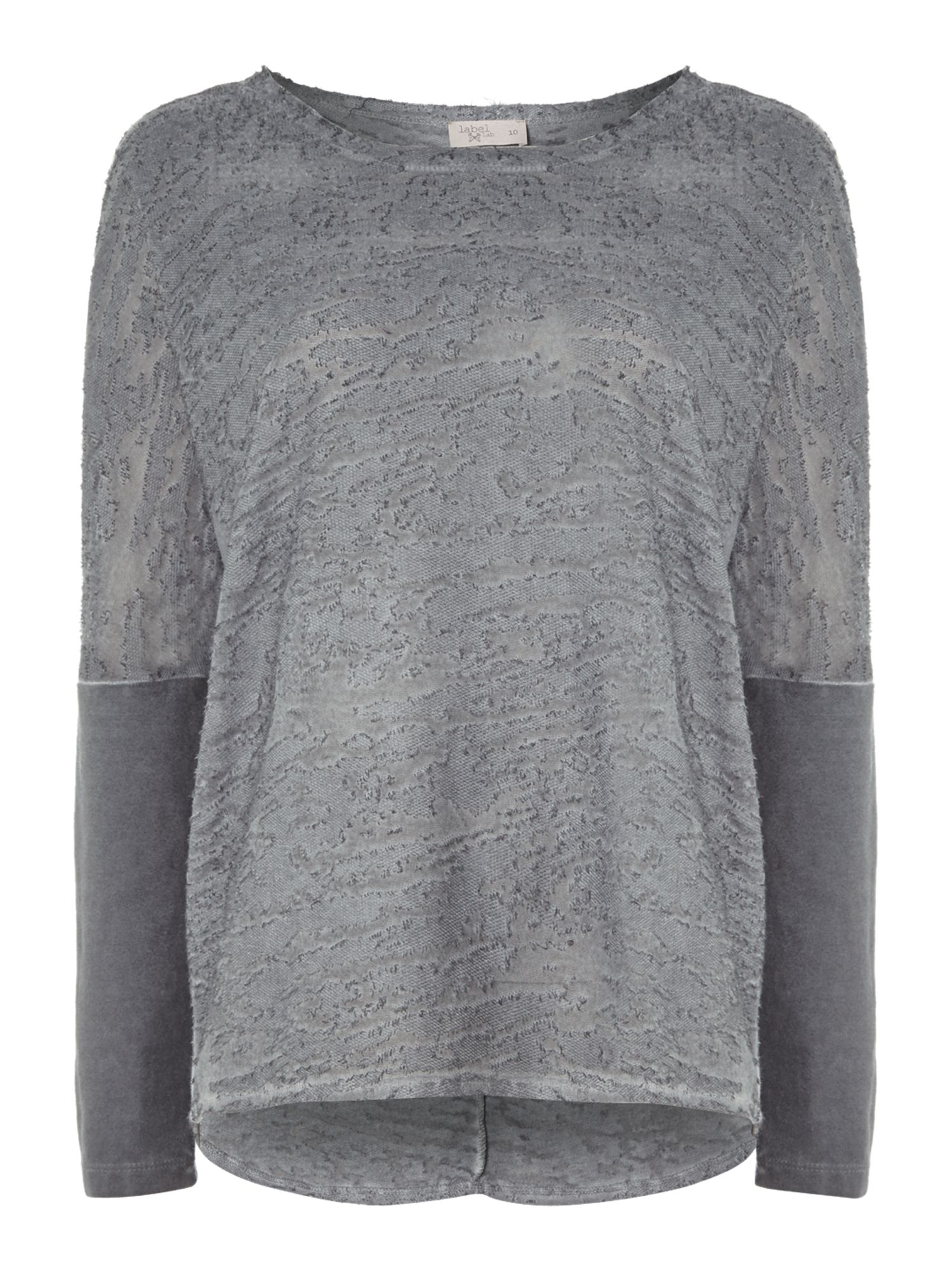Burnout batwing jersey top