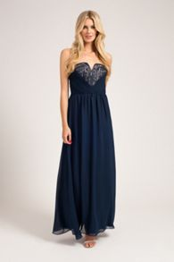 Sweetheart neck bandeux maxi dress