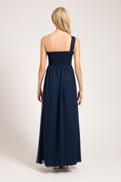 Little Mistress One shoulder sequin maxi dress