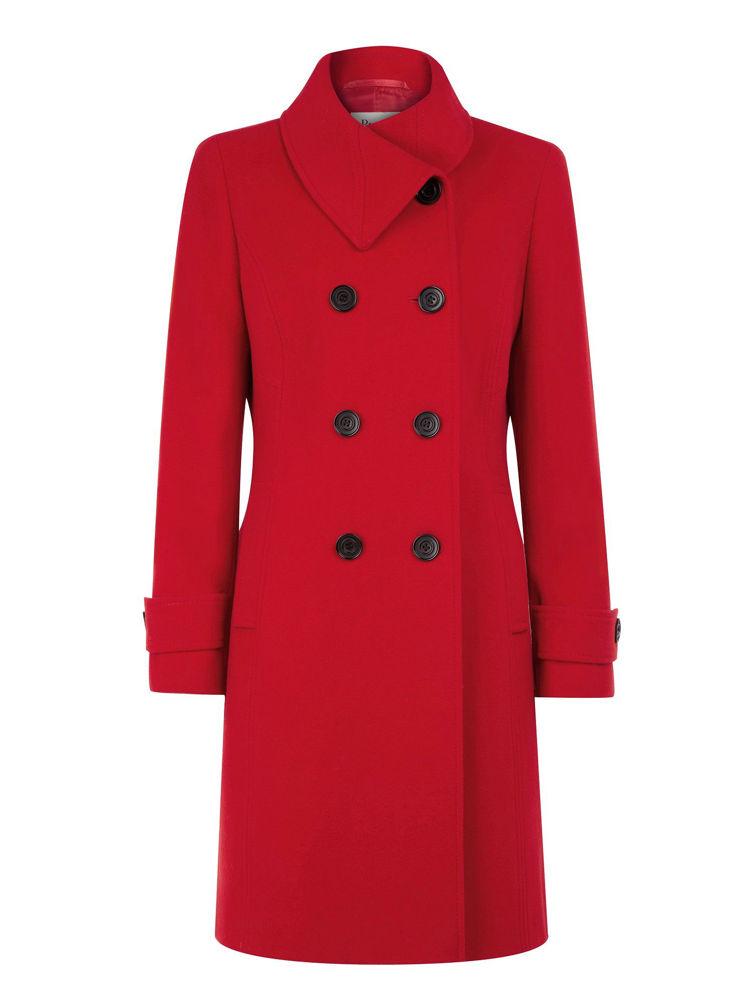 Scarlet wool coat