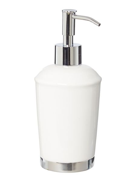 Linea White Ceramic Soap Dispenser