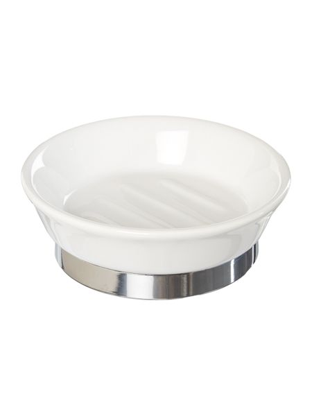 Linea White ceramic soap dish