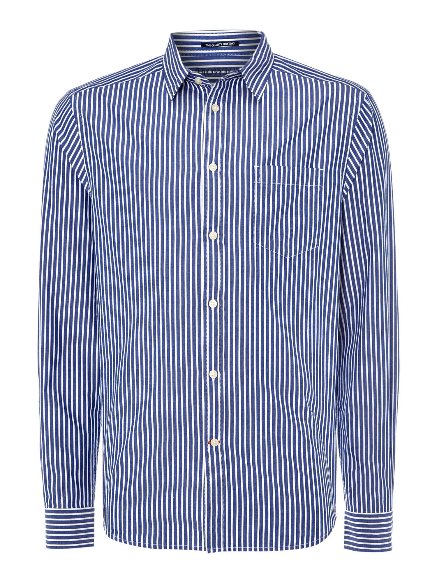 butchers stripe long sleeve shirt