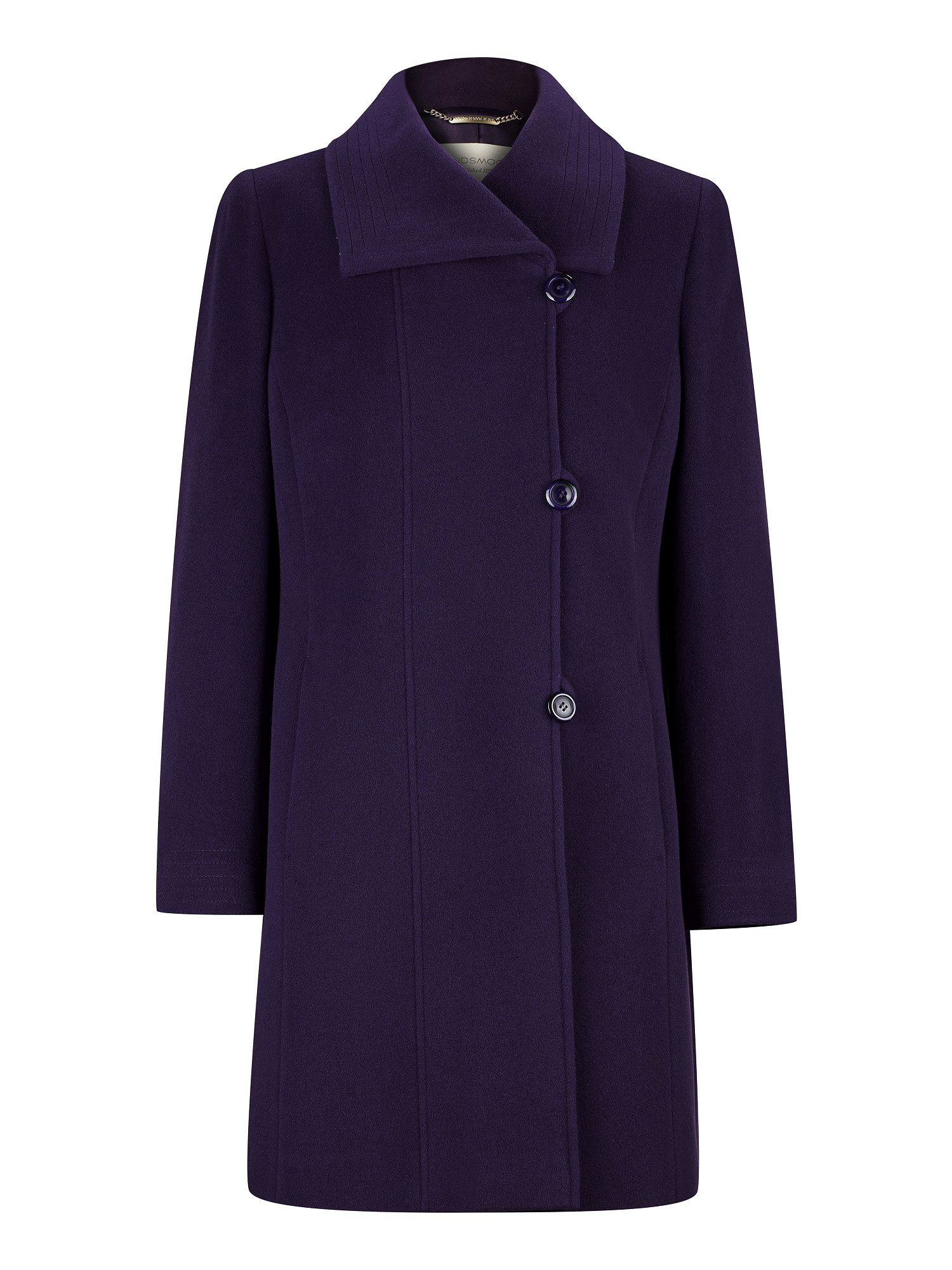 Mid-length damson coat