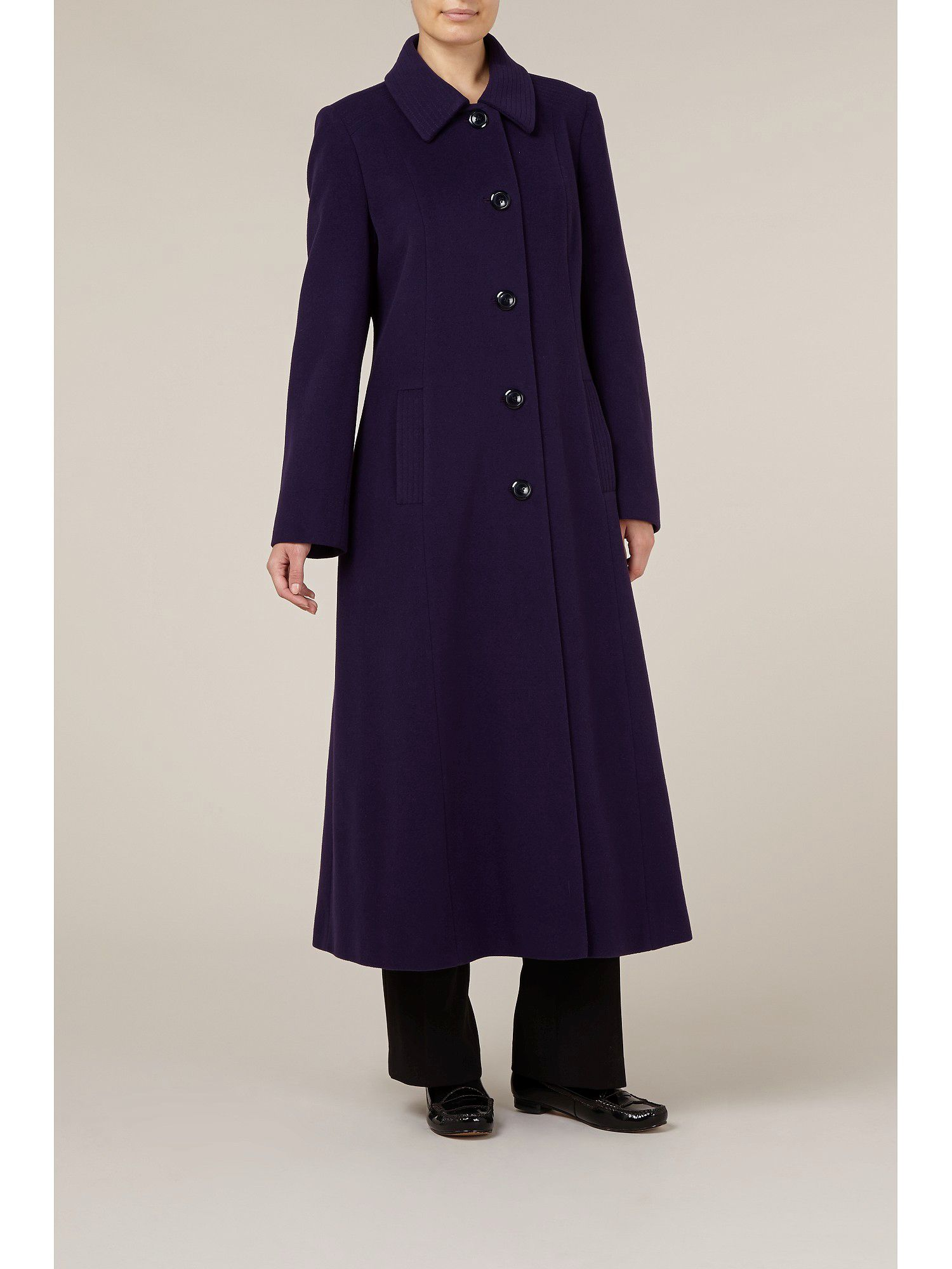 Long damson coat