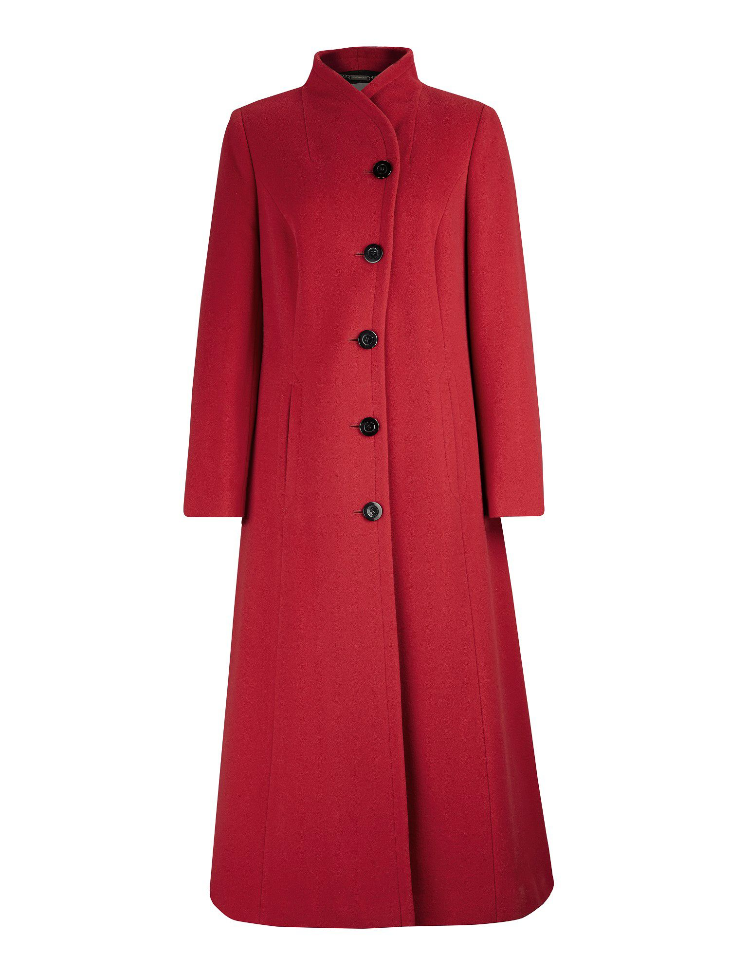 Long fit and flare red coat