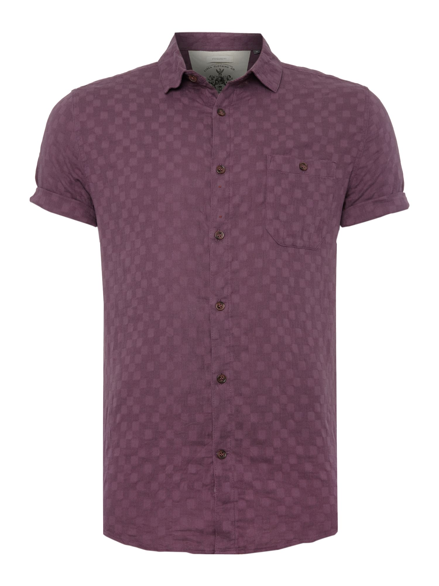 jasper square jaquard short sleeved shirt