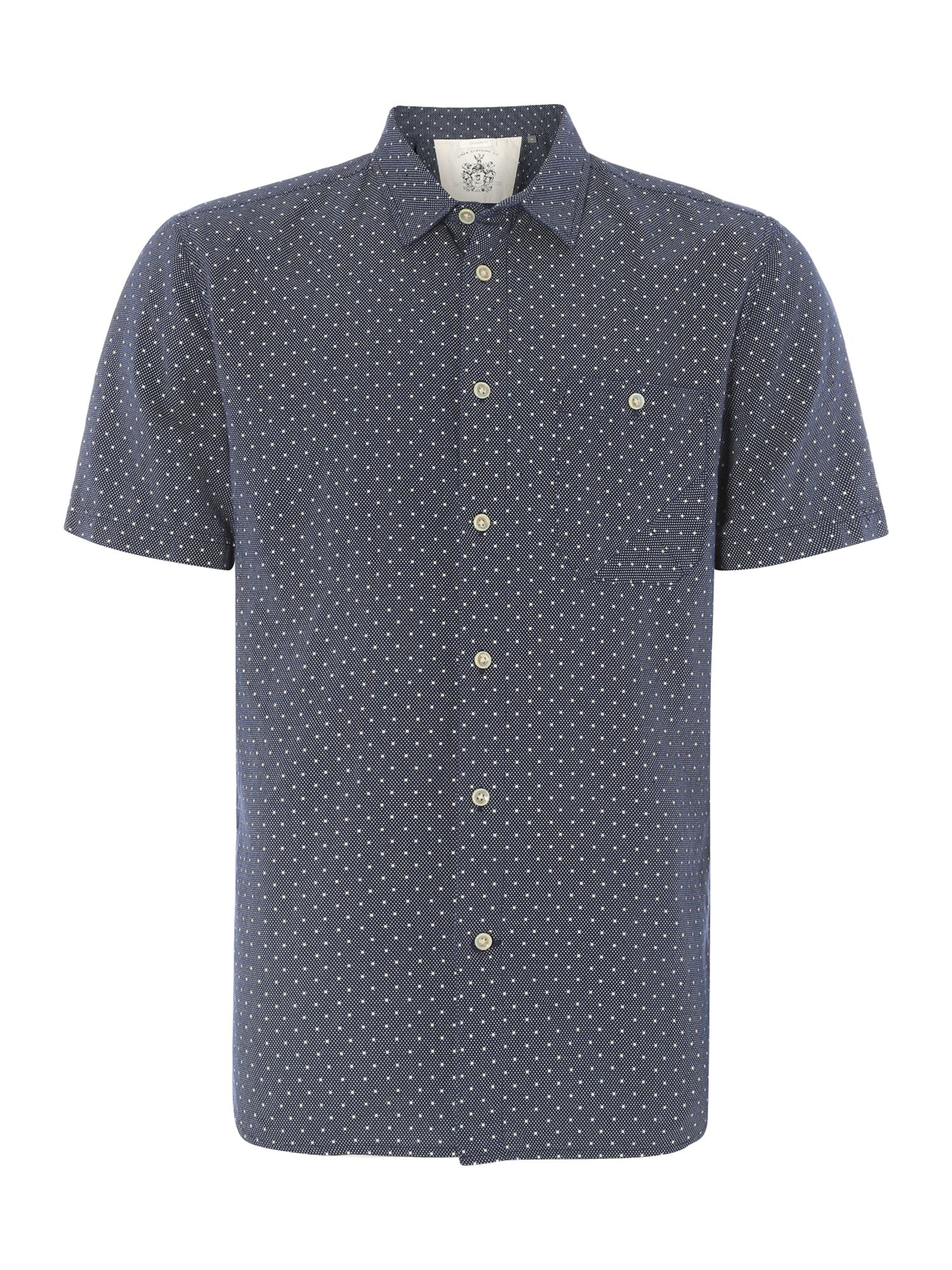harry dot printed short sleeved shirt