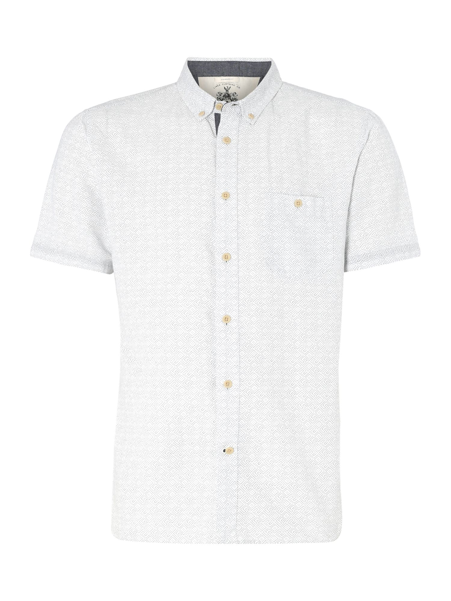fredrick geometric print short sleeved shirt