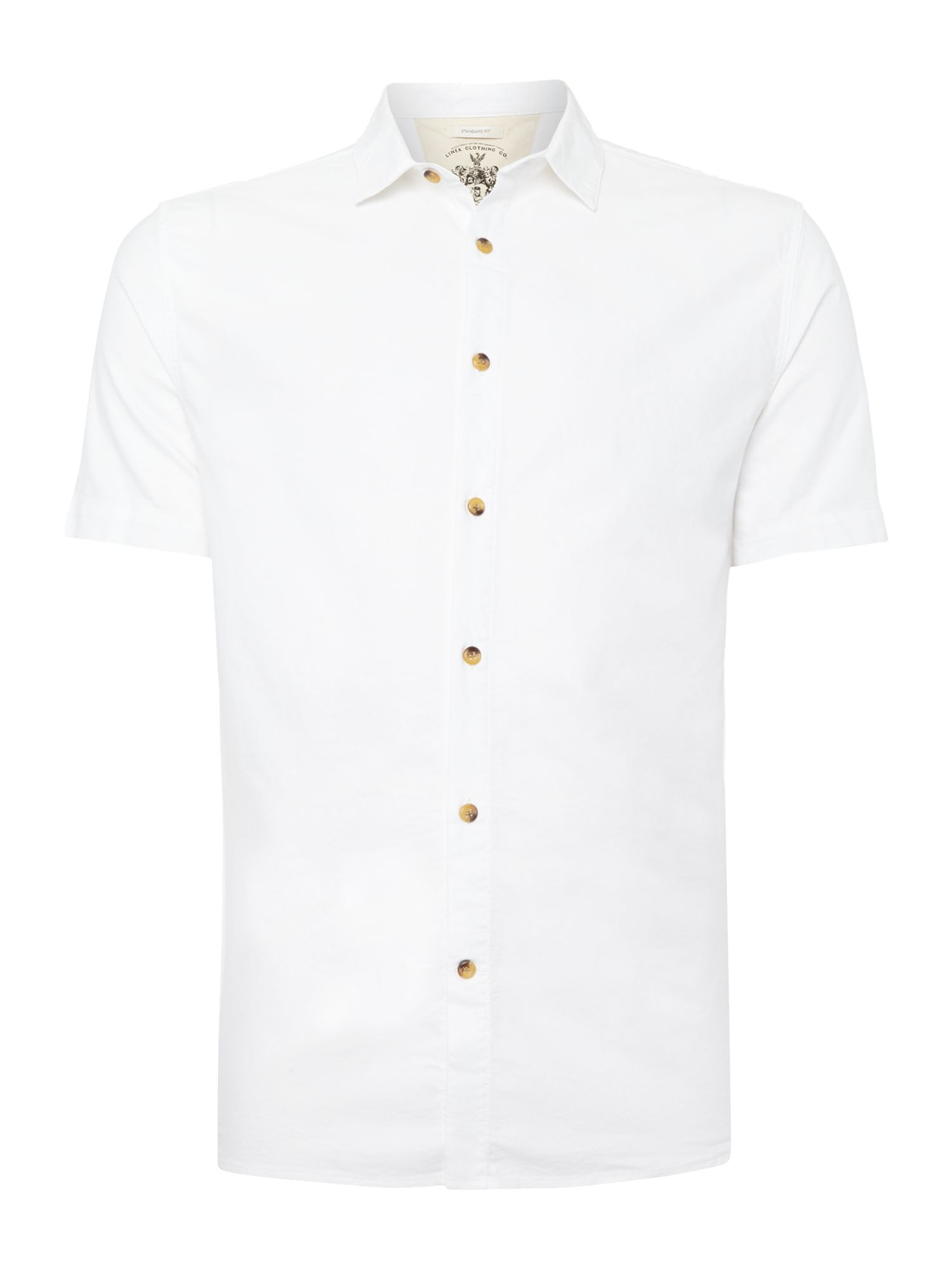harold plain short sleeved oxford shirt