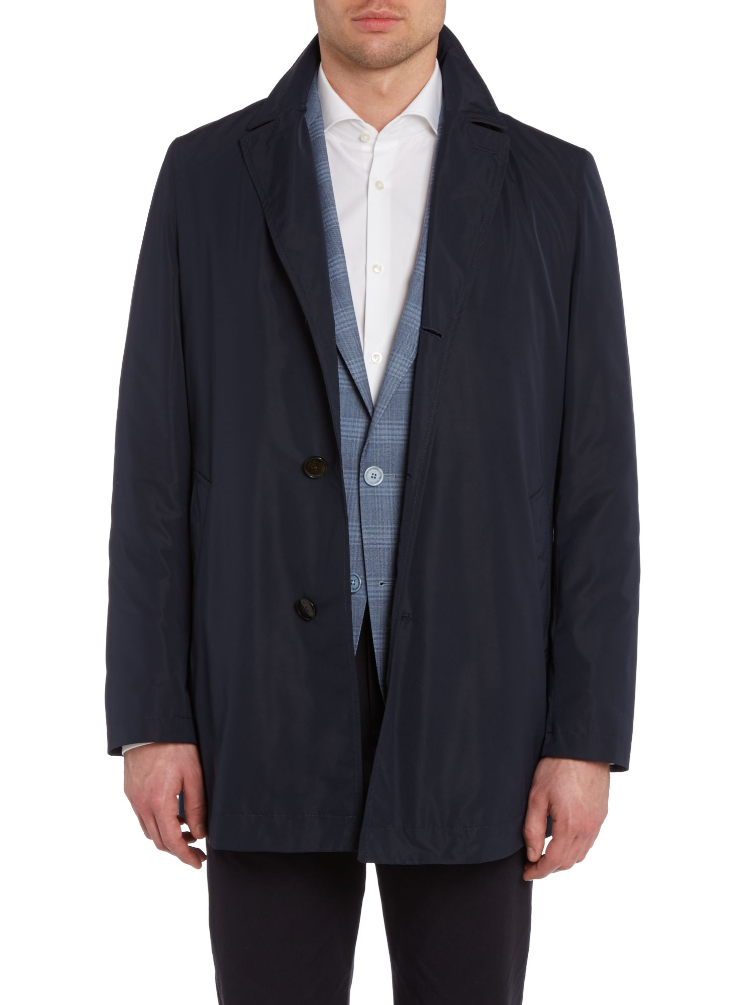 Lucas nylon single breasted regular fit coat