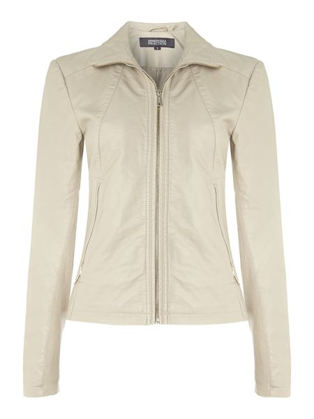 Kenneth Cole Funnel neck pu jacket