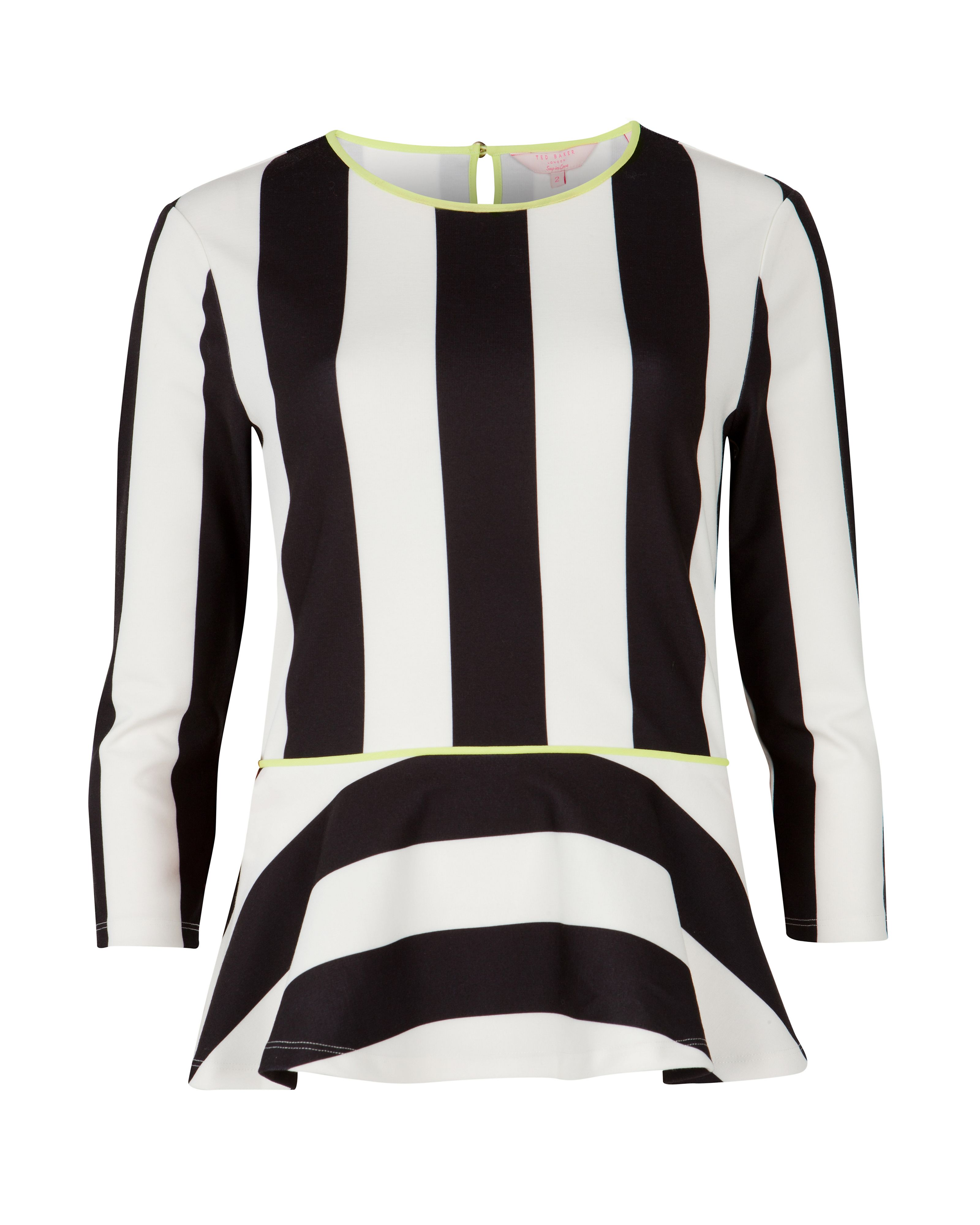 Braylea stripe peplum top