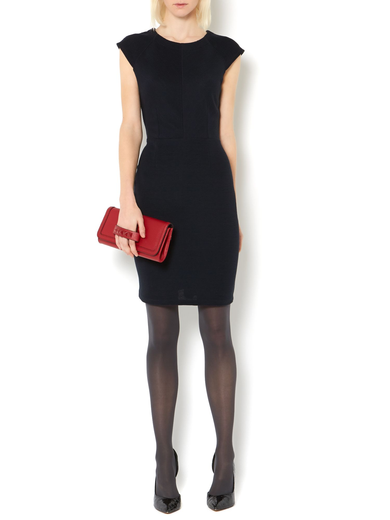 Textured Tulip Bodycon Dress