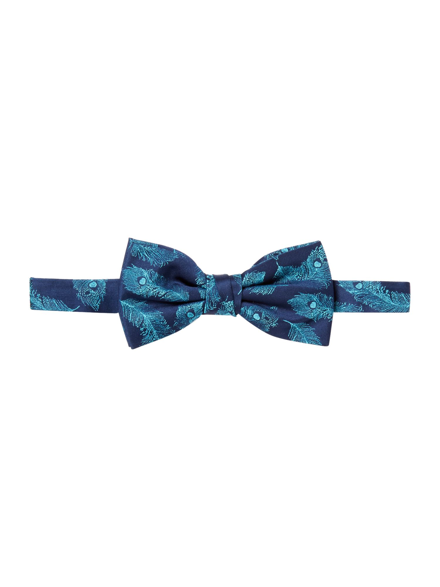 Cromer Peacock Feather Silk Bow Tie