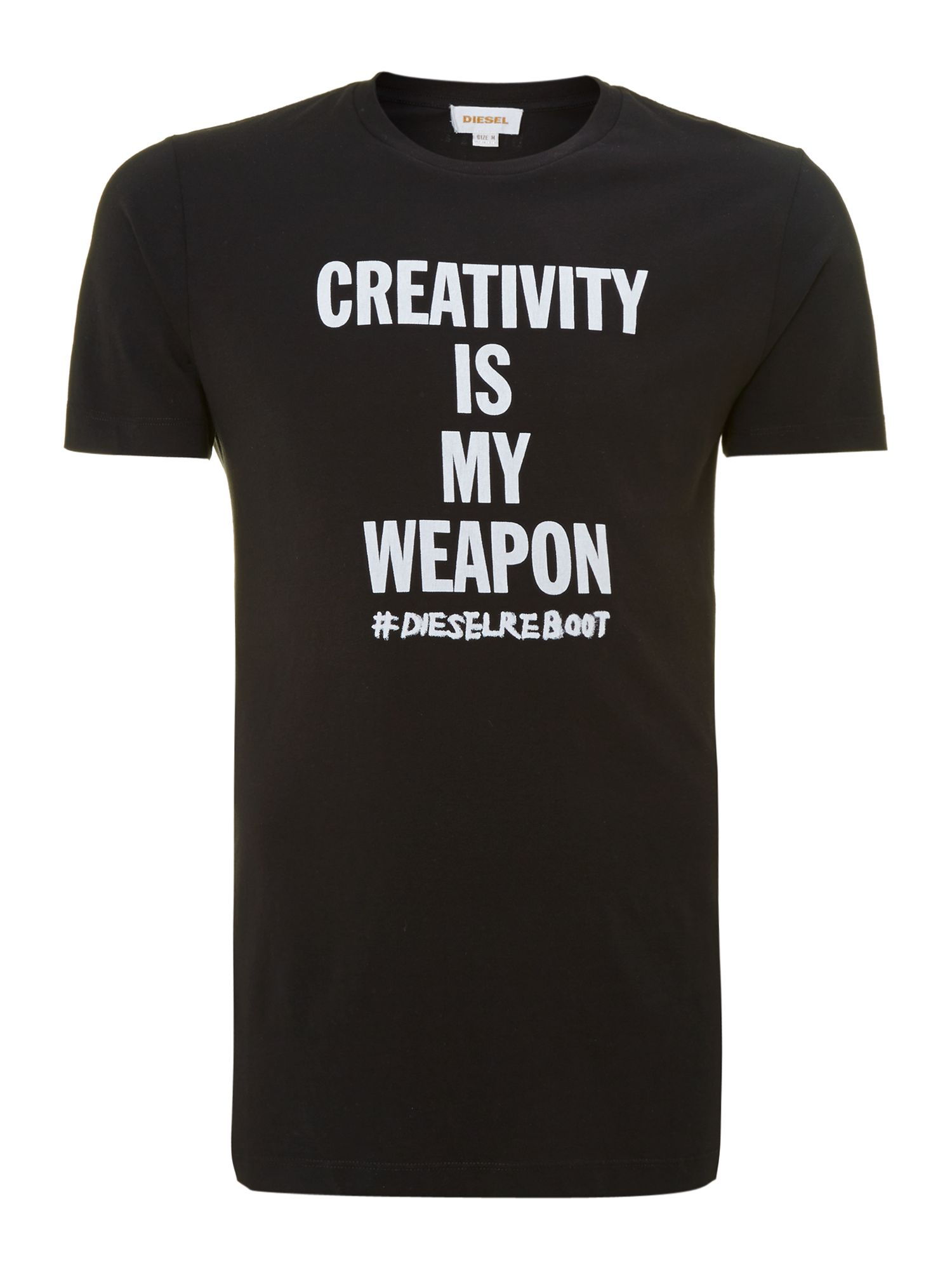 Creativity slogan t shirt