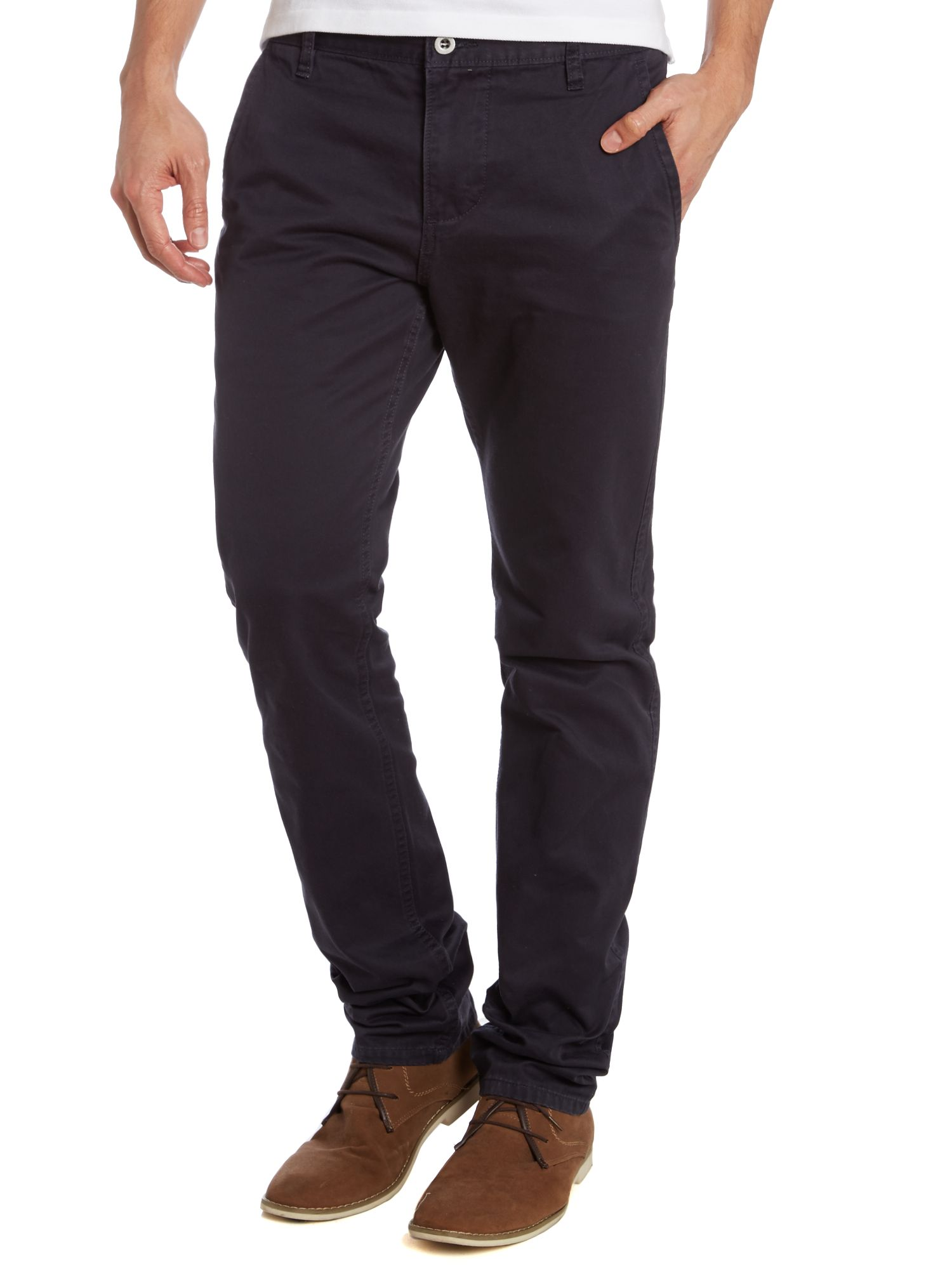 Alpha khaki slim core chino