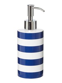 Linea Striped soap dispenser in blue