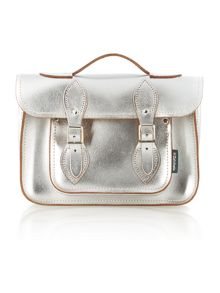 Mini silver solar sparkle satchel bag