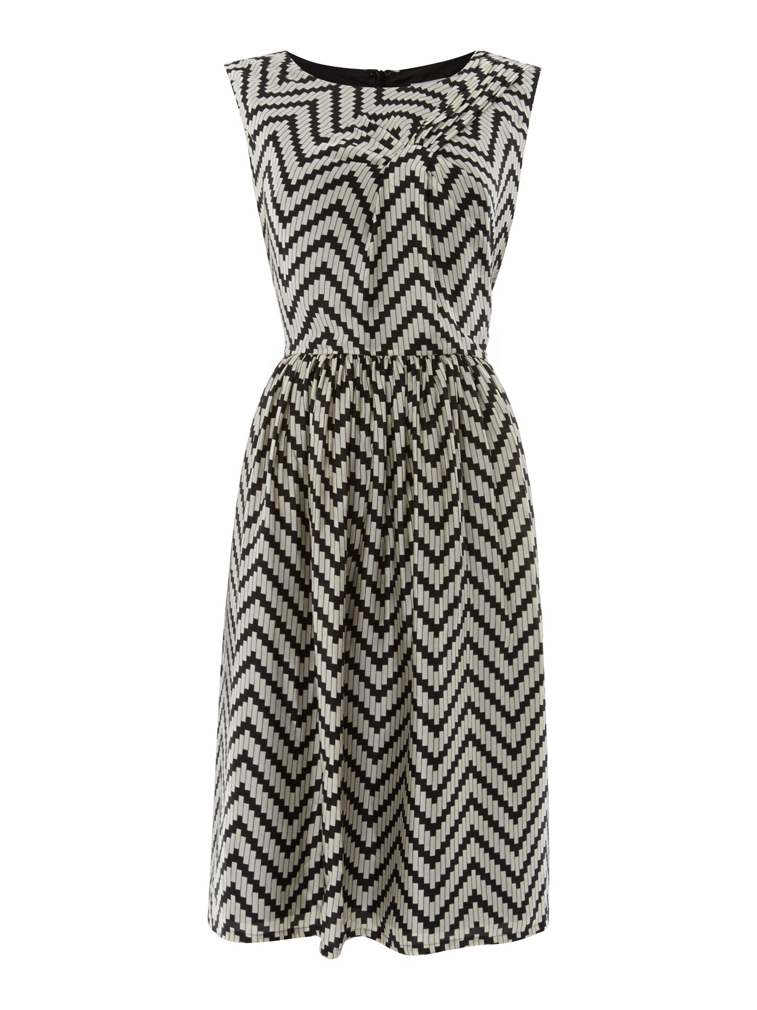 Tile printed dress