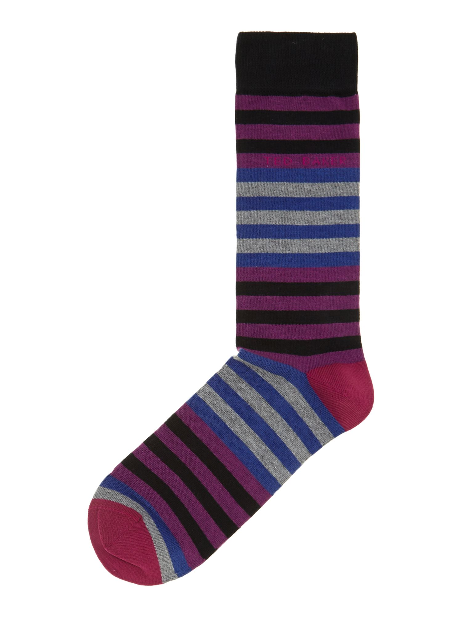 Wide multi stripe socks