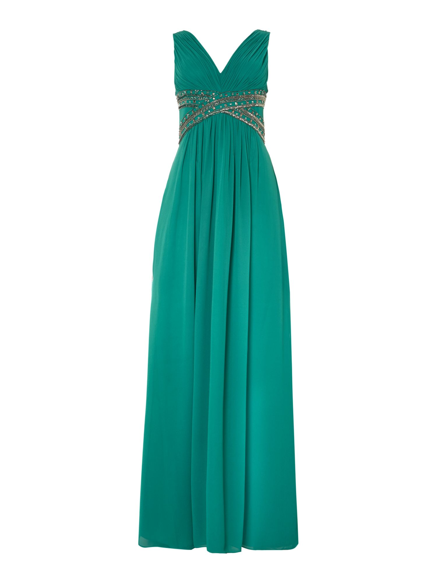 Embellished chiffon maxi dress