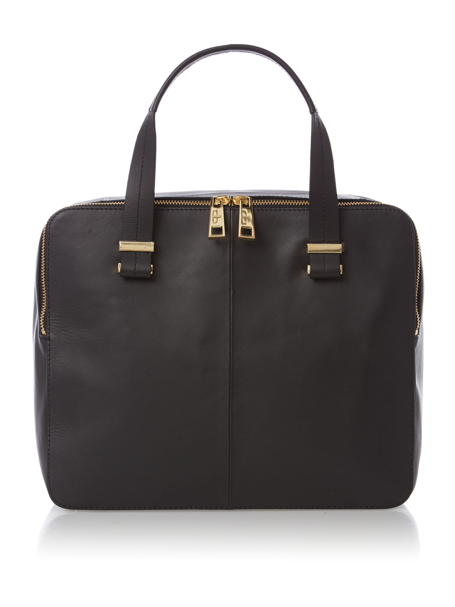 Black Pisces double zip bowler bag