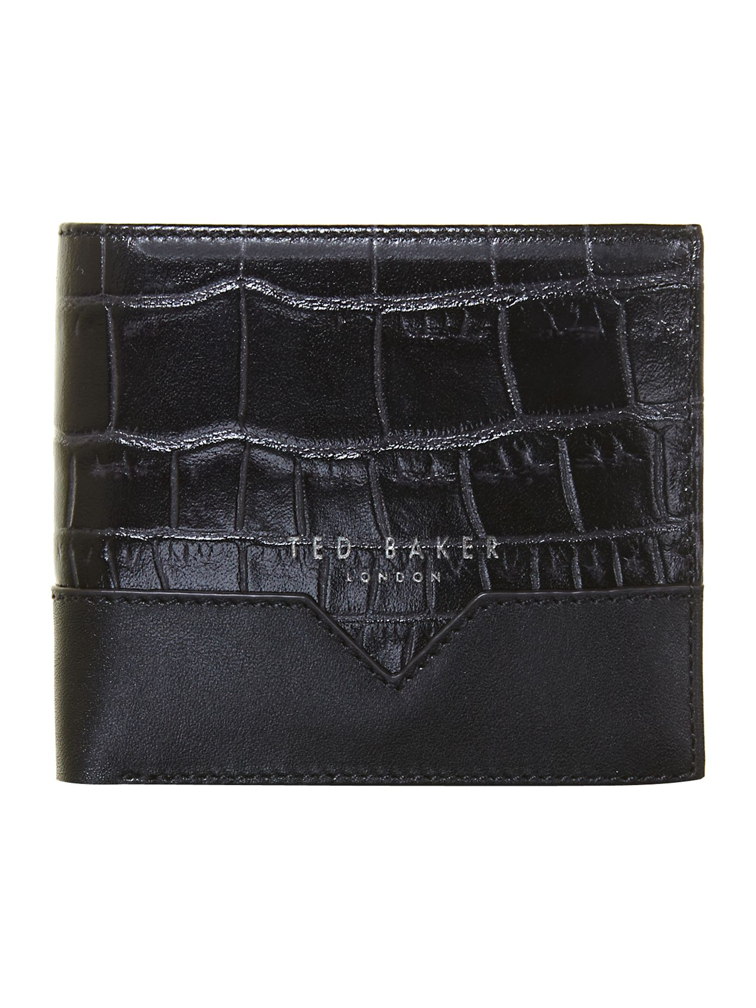 Leather croc bifold and card holder
