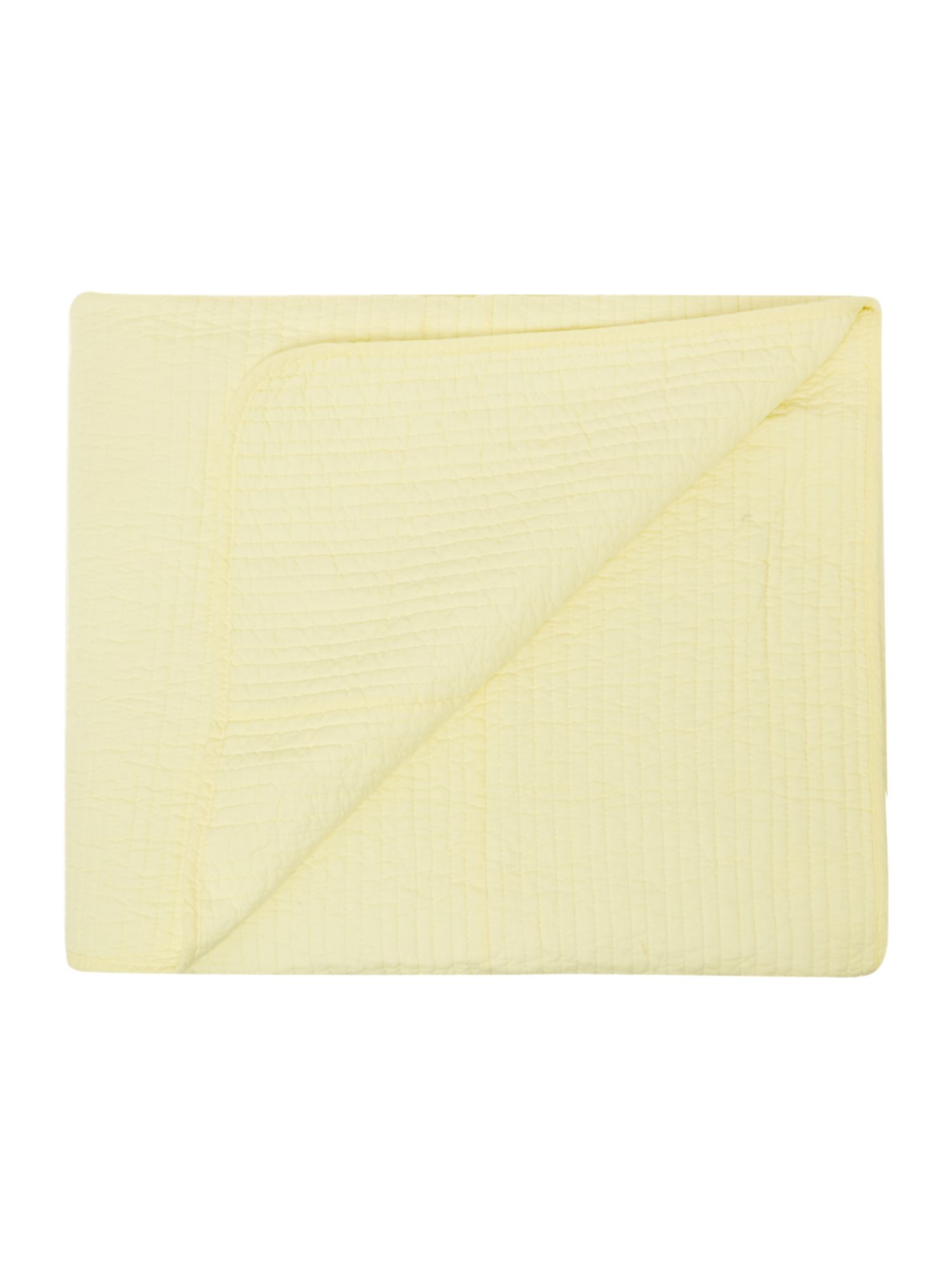 Clara lemon cotton bedspread