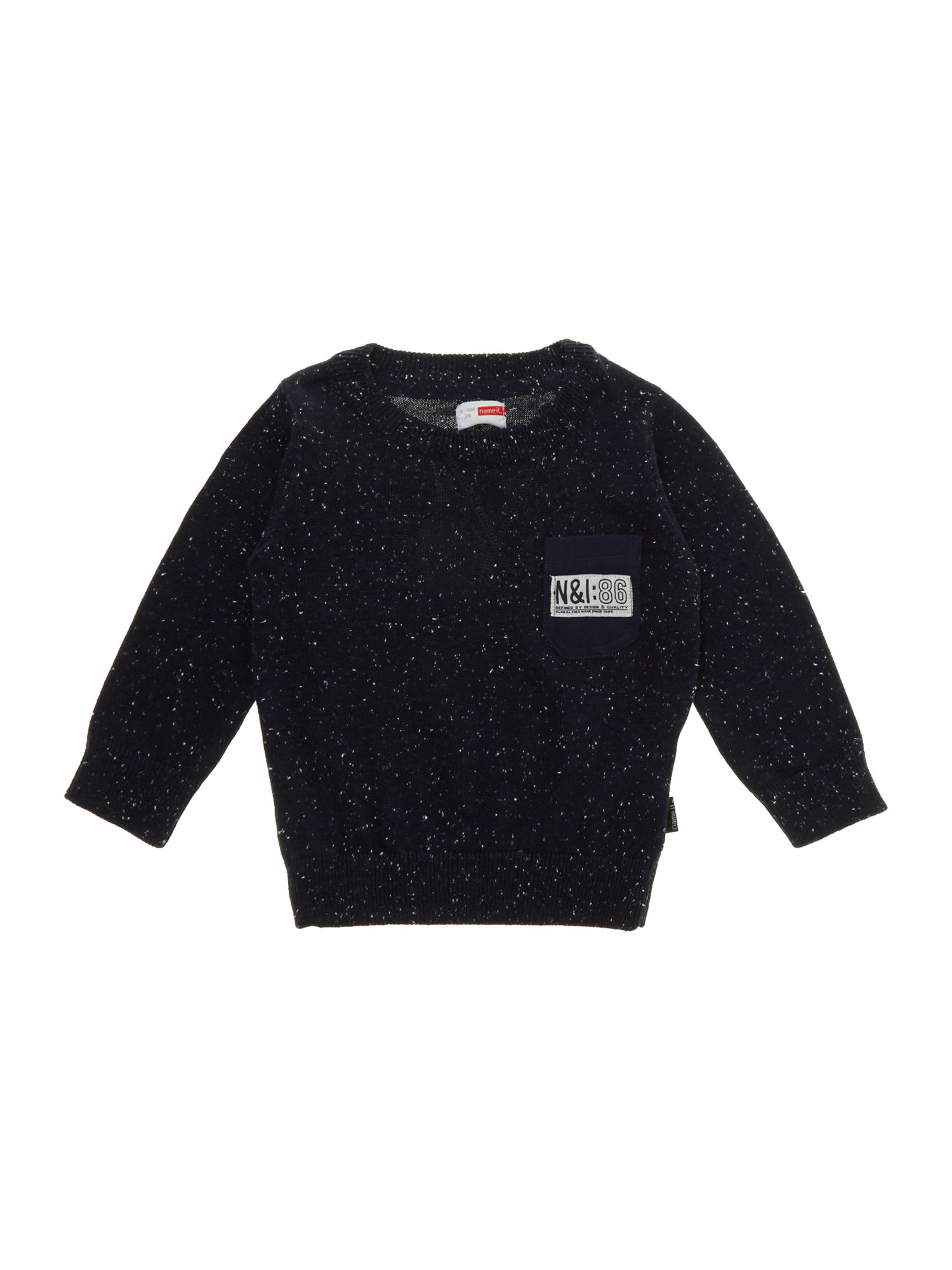 Boy`s pocket detail crew knit