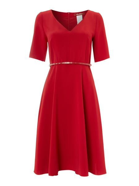 Max Mara Eloisa 3/4 sleeve belted shift dress