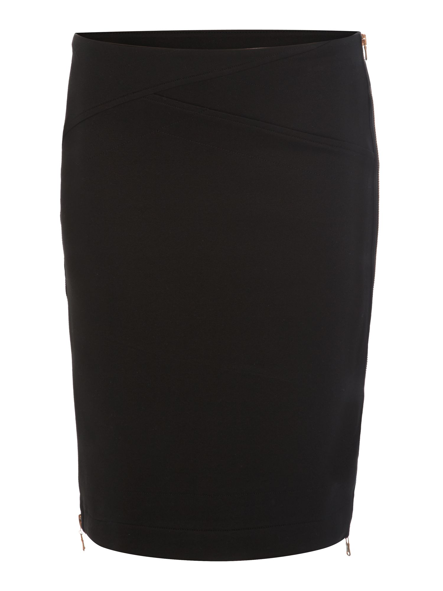 Jersey zip side skirt