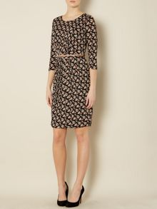 Fosca floral print belted dress