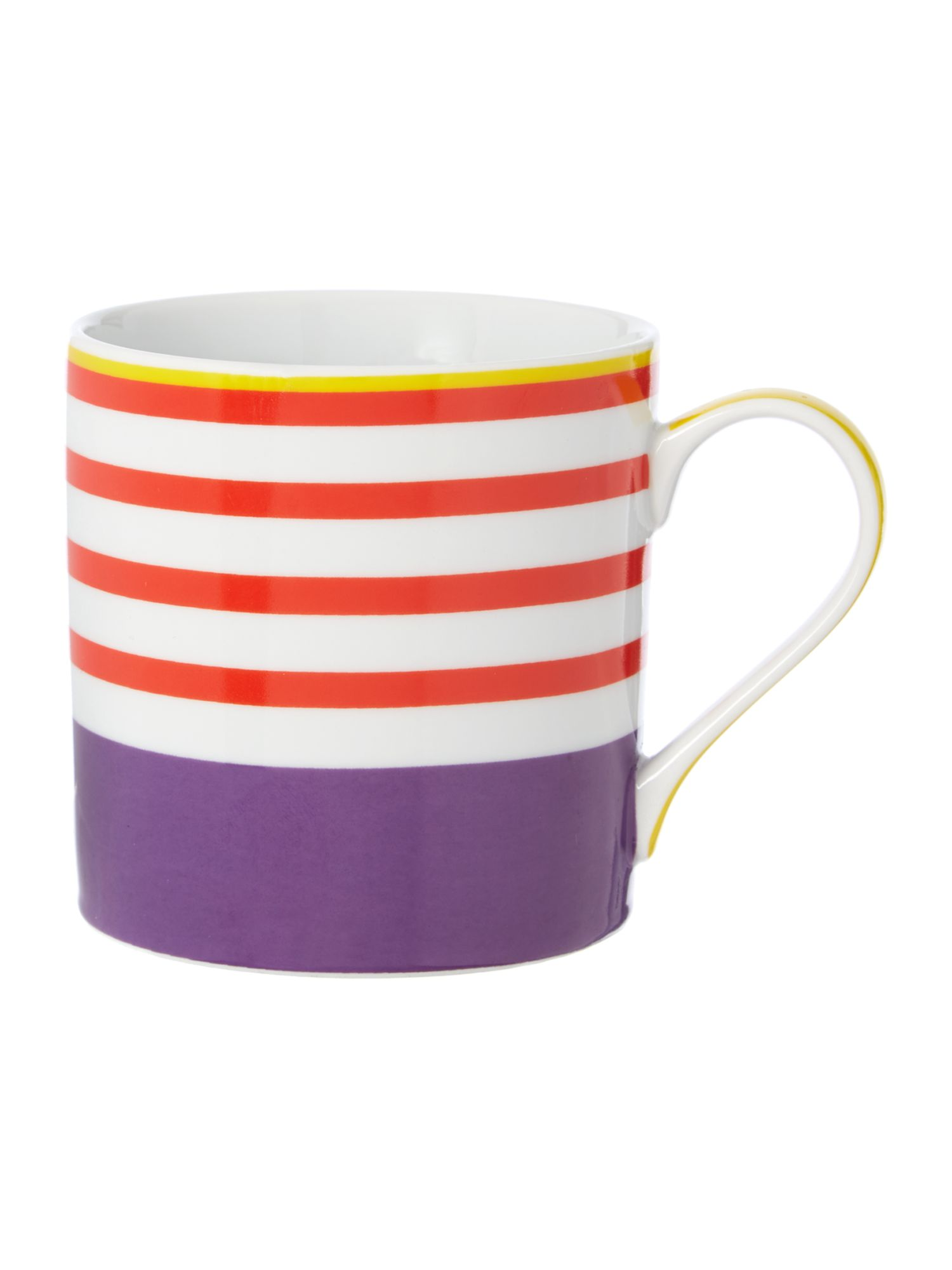Linea Neo geo purple stripe mug