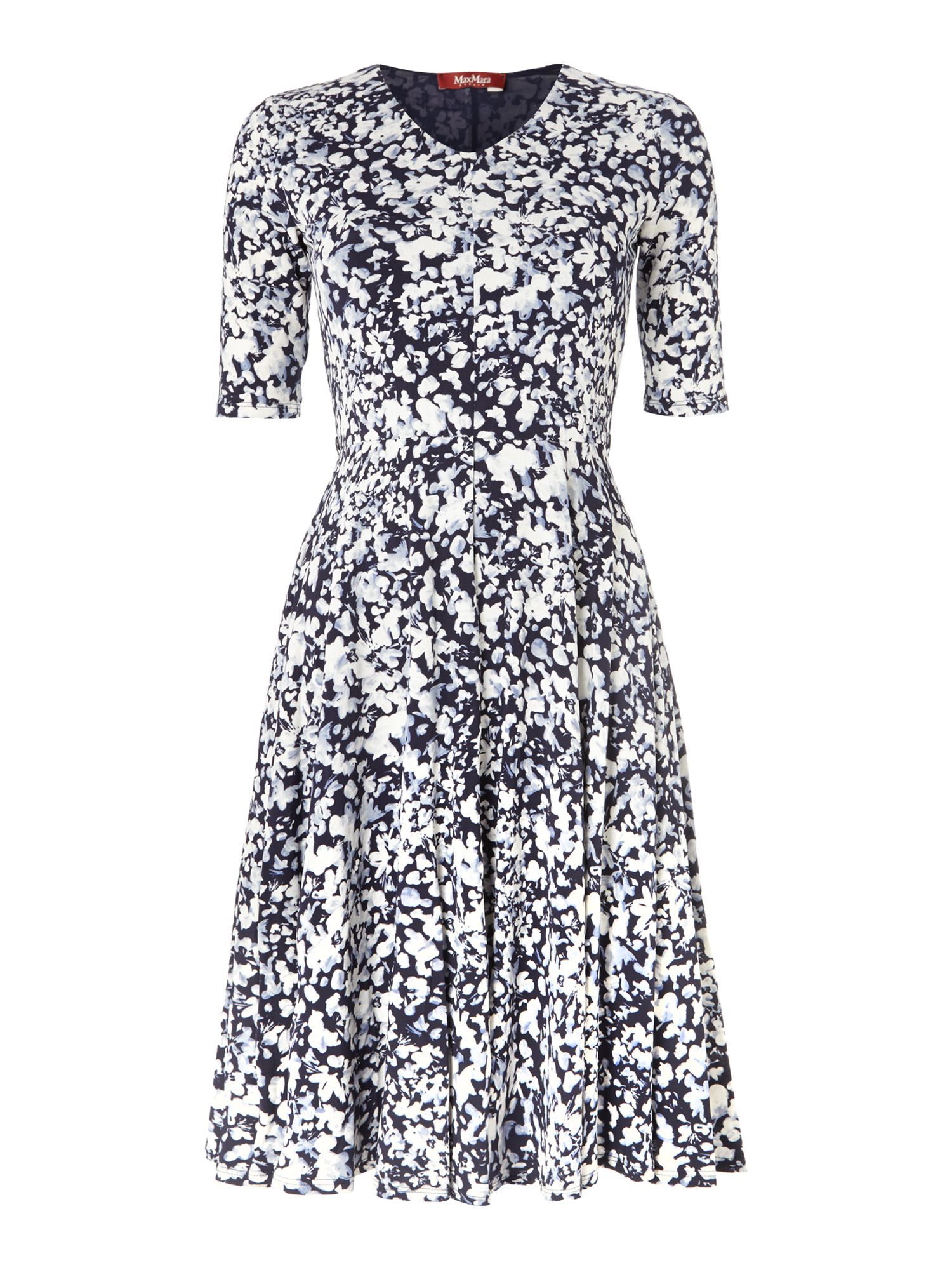 Rino 3/4 sleeved floral printed dress