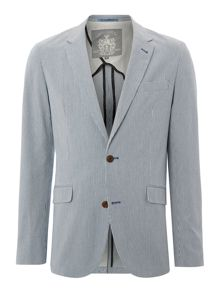 clark ticking stripe blazer
