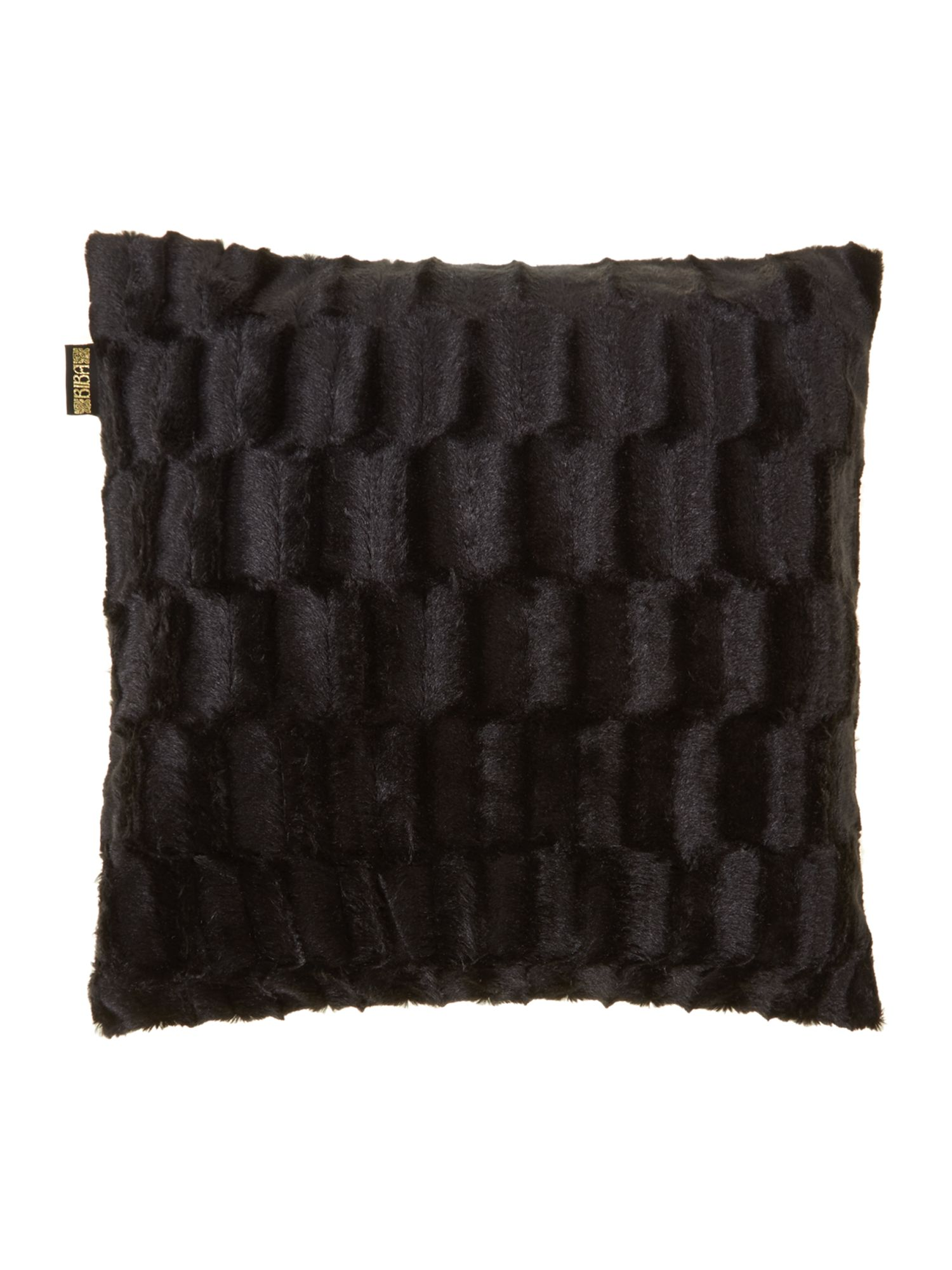 Black mink cushion