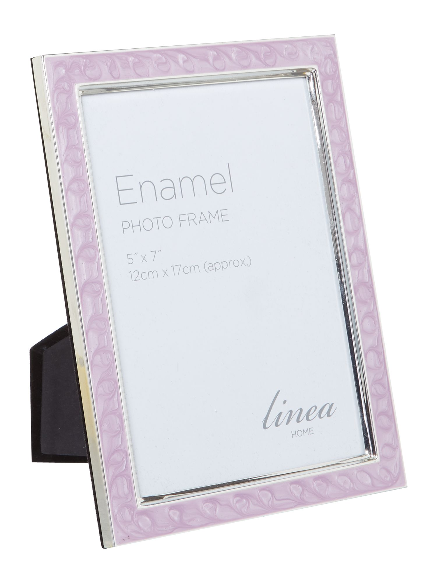 Lilac enamel photo frame, 5 x 7